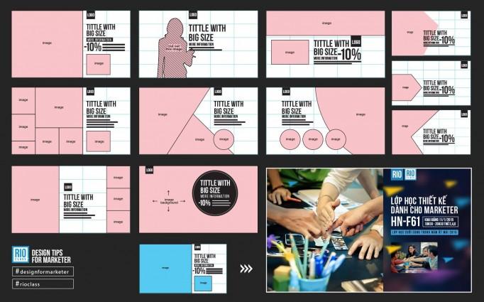 [RIO Class - Design Tips] Gợi ý 10 bố cục Poster Facebook Ads từ RIO